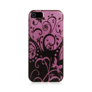 Insten Black/Purple Swirl Hard Snap-on Case Cover For Apple iPhone 5/5S/SE