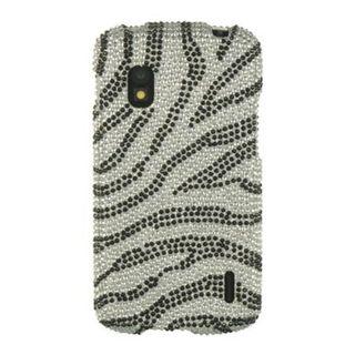 Insten Pink Zebra Hard Snap-on Diamond Bling Case Cover For LG Google Nexus 4 E960