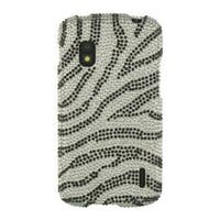 Insten Pink Zebra Hard Snap-on Diamond Bling Case Cover For LG Google Nexus 4 E960