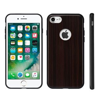Insten Black Wood Fusion Hard Snap-on Case Cover For Apple iPhone 7