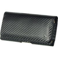 Insten Black Carbon Fiber Leather Case Cover with Belt Clip For Samsung Galaxy Note