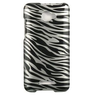 Insten Silver/Black Zebra Hard Snap-on Case Cover For HTC Droid DNA