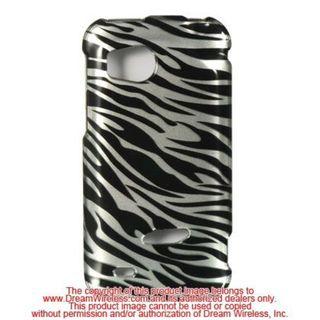 Insten Silver/Black Zebra Hard Snap-on Case Cover For HTC Rezound / Vigor