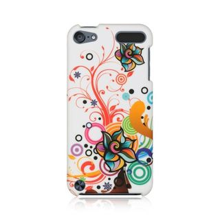 Insten Multi-Color Autumn Flower Hard Snap-on Rubberized Matte Case Cover For Apple iPod Touch 5th Gen/6th Gen