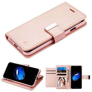 Insten Rose Gold Leather Case Cover with Stand/ Wallet Flap Pouch/ Photo Display For Apple iPhone 7