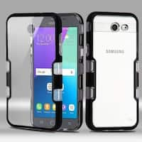 Insten Clear/ Black Hard Snap-on Dual Layer Hybrid Case For Samsung Galaxy Amp Prime 2/ Express Prime 2/ J3 (2017)/ J3 Emerge