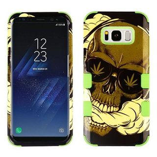 Insten Multi-Color Skull Tuff Hard PC/ Silicone Dual Layer Hybrid Case Cover For Samsung Galaxy S8
