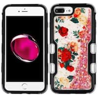 Insten Multi-Color Roses Tuff Quicksand Glitter Hard Snap-on Dual Layer Hybrid Case Cover For Apple iPhone 6 Plus/ 6s Plus