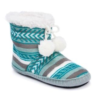 MUK LUKS® Women's Bootie Slippers|https://ak1.ostkcdn.com/images/products/17093796/P23365034.jpg?impolicy=medium