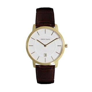 Simon Chang Exclusive Collection Watch with Brown Strap