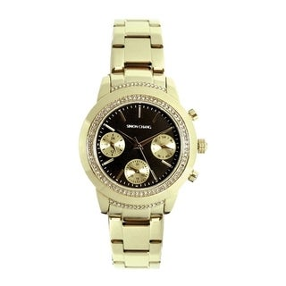 Simon Chang Exclusive Collection Yellow Goldtone Watch