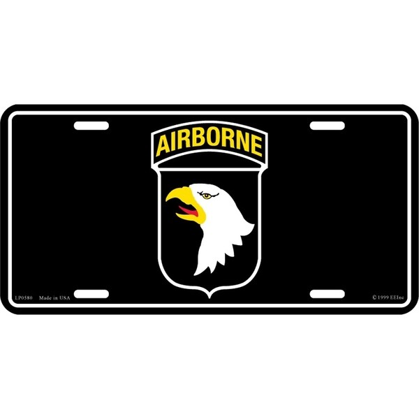 US Army 101st Airborne License Plate