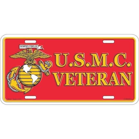 United States Marine Corps Veteran License Plate