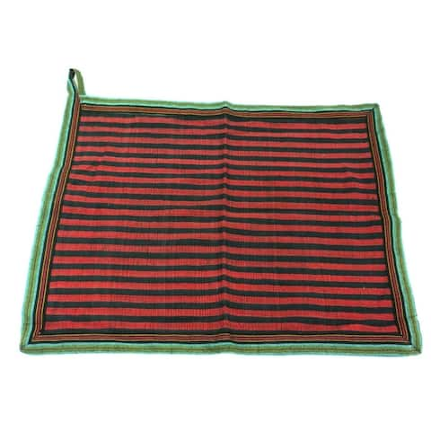 Handwoven Cotton Dish Towel in Red (Nepal)