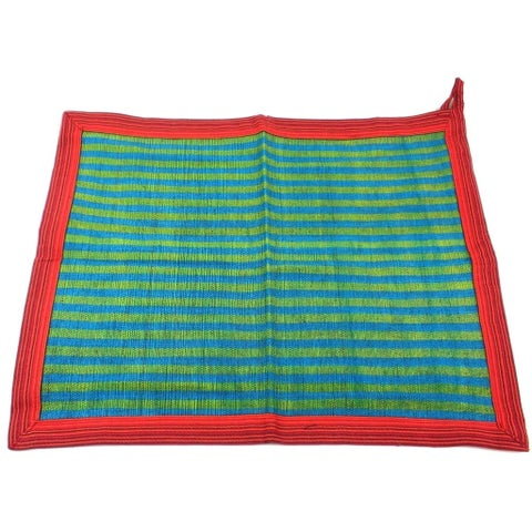 Handmade Cotton Dish Towel in Green (Nepal)