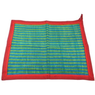 Handwoven Cotton Dish Towel in Green (Nepal)