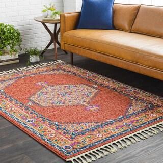 Boho Multicolored Persian Tasseled Area Rug (3'11 x 5'7)