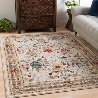 William Ivory Rustic Vintage Area Rug - 3' x 5'