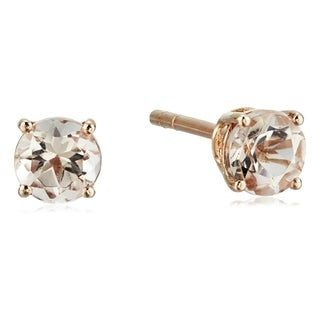 Pinctore 10KT Rose Gold 0.53ctw Morganite Studs Earrings