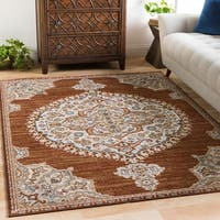 "Pabst Vintage Medallion Burnt Orange Area Rug - 5'3"" x 7'3"""