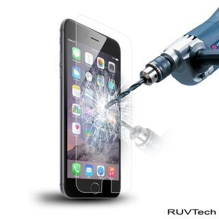 RuvTech Tempered Glass Screen Protectors for iPhone 6/6+/7/7+ (2-Pack)