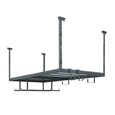 NewAge Products VersaRac Set with 1 Overhead Rack and 6 Piece Accessory Kit (VersaRac, Hanging Bars, S-Hooks)