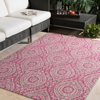 "Addar Casual Medallion Bright Pink (5'3"" x 7'6"")"