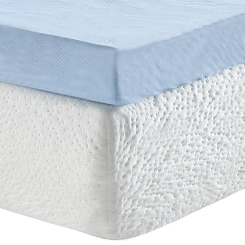 Classic Brands Serenity 3-Inch Gel Memory Foam Mattress Topper with Cover