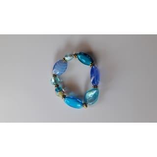Handmade Artisan Glass Beaded Bracelet (USA)