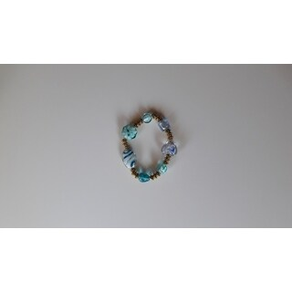 Handmade Artisan Glass Beaded Bracelet (USA)