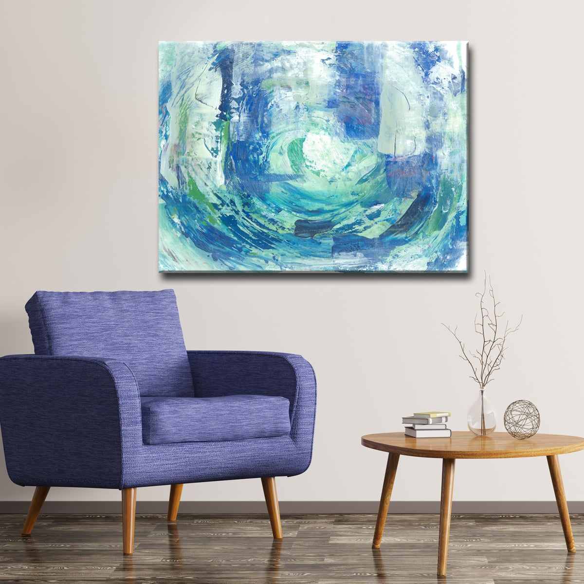 Ready2HangArt Max+E 'Calming Blue Spa' Canvas Art Print (...