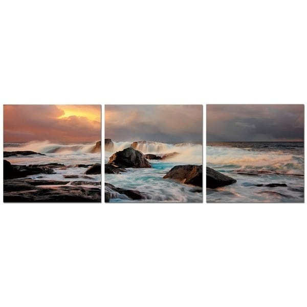 Elementem Photography  Early Morning  Photography Print 3-Panel Panoramic Wall Art  sc 1 st  Overstock.com & Elementem Photography: