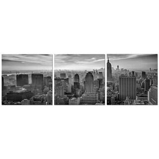 "Elementem Photography: ""New York Minute"" Photography Print 3-Panel Panoramic Wall Art"