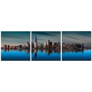 "Elementem Photography: ""Mirror Image"" Photography Print 3-Panel Panoramic Wall Art"