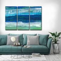 Max+E 'Deeper Ocean Layers' 3 Piece Canvas Art Set