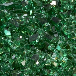 Duluth Forge 1/4 in. Premium Reflective Emerald Fire Glass - 10 lb. Bag Fire Pit Glass