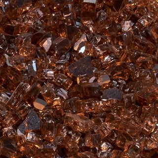Duluth Forge 1/4 in. Classic Copper Fire Glass - 10 lb. Bag Fire Pit Glass
