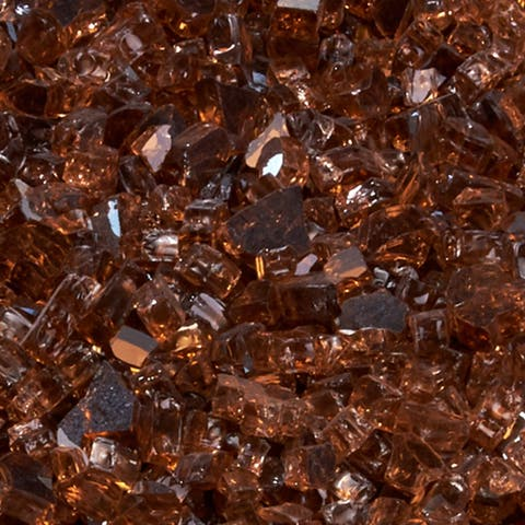 Duluth Forge 1/4 in. Premium Reflective Copper Fire Glass - 10 lb. Bag Fire Pit Glass