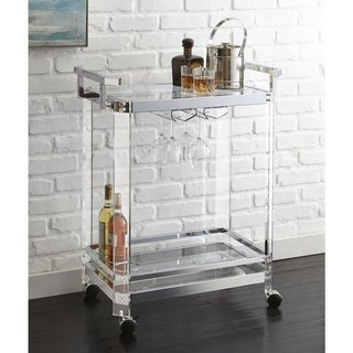 Alba Acrylic Server Cart by Greyson Living - 35 inches high x 29 inches wide x 17 inches deep