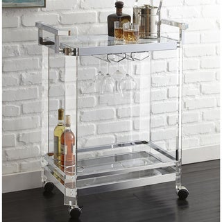Alba Acrylic Server Cart by Greyson Living