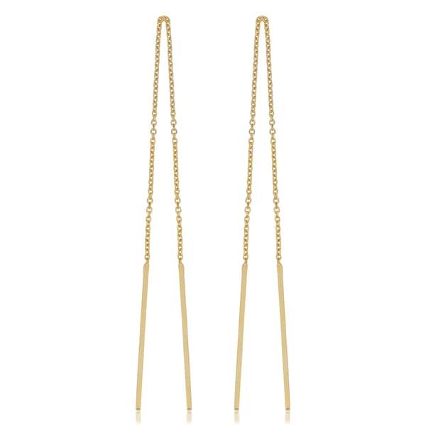 shop fremada italian 14k yellow gold threader bar earrings on sale