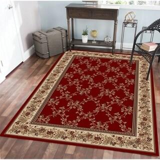Virginia Trellis Red Area Rug (7'9 X 11') - 7'9 x 11'