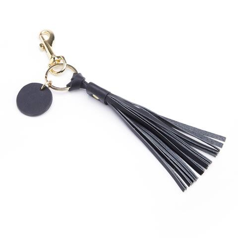 Royce Leather Tassel Key Fob