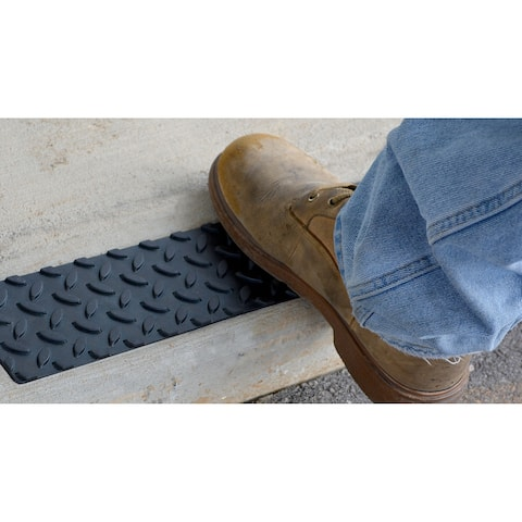 """Pro-Series Adhesive Rubber Step Cover (17"""" x 4"""") (Set of 12)"""