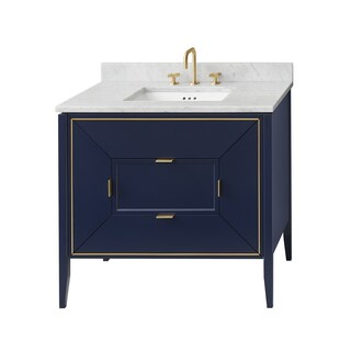 "Ronbow 30"" Amora Bathroom Vanity Cabinet Base in Navy"
