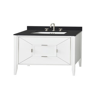 "Ronbow 48"" Amora Bathroom Vanity Cabinet Base in White"