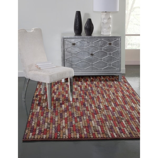 Shop Allana Red Purple Gold Area Rug By Greyson Living 5 X 8 On