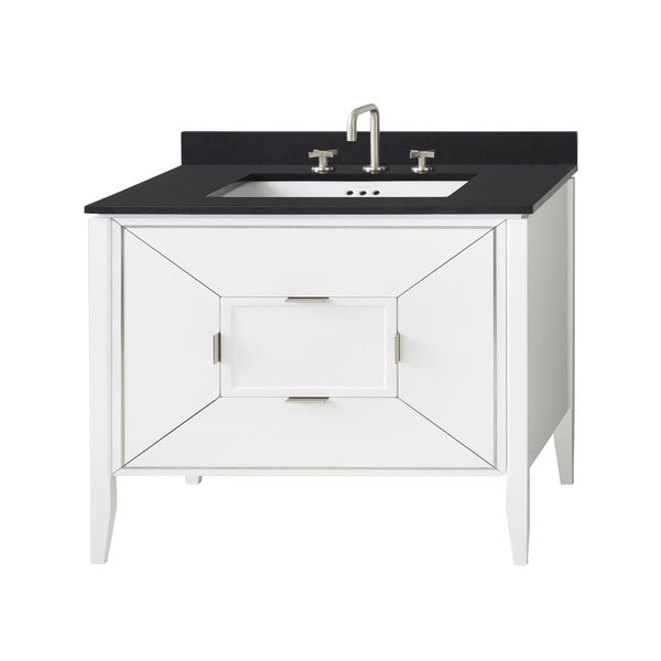 "Ronbow 36"" Amora Bathroom Vanity Cabinet Base in White"