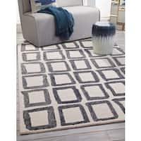 Greyson Living Trudy Ivory/Charcoal Wool Geometric Area Rug (5' x 8')
