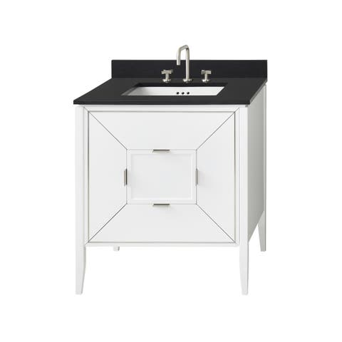 "Ronbow 30"" Amora Bathroom Vanity Cabinet Base in White"
